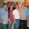 Engineer Dan Wallin, me, cond. Richard Rintoul; guitarists Fino Roverato, Joe Jewell, Joe DiBlasi, John Goux, Grant Geissman and Mitch Holder; MUSIC FOR SIX GUITARS AND PERCUSSION.
