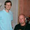 Cellist Sebastian Toettcher and me; HANGMAN'S HOUSE sessions.